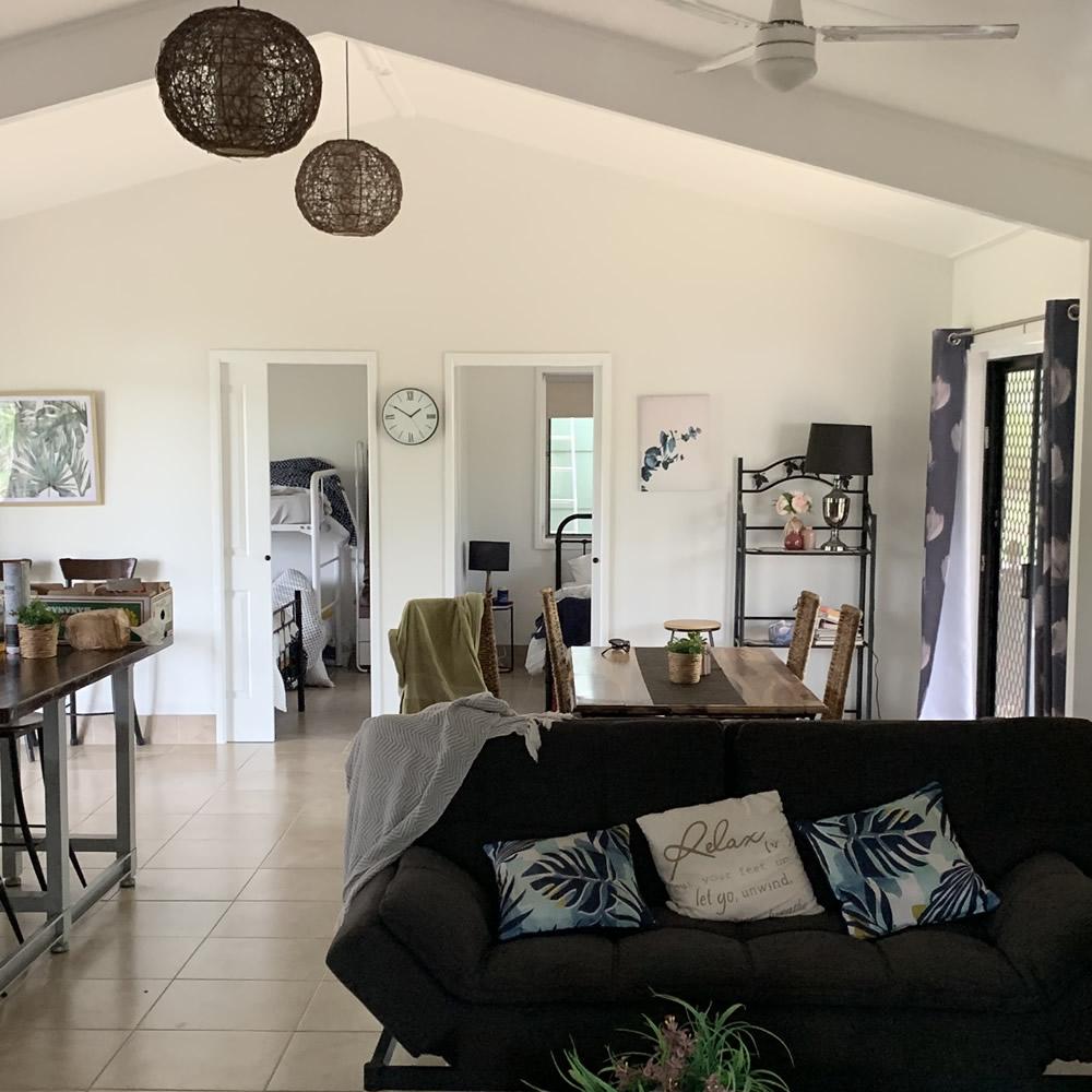 Baffle Hideaway cabin interior